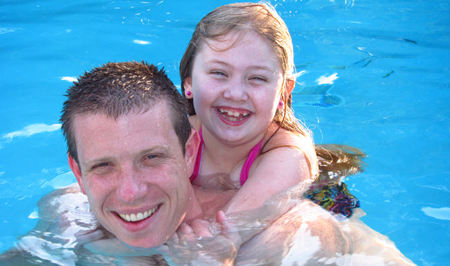 Jeff Wayman and Daughter