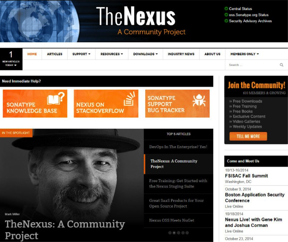 TheNexus page