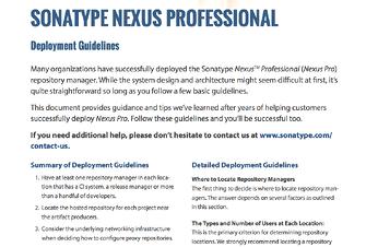Nexus Pro deployment guidelines