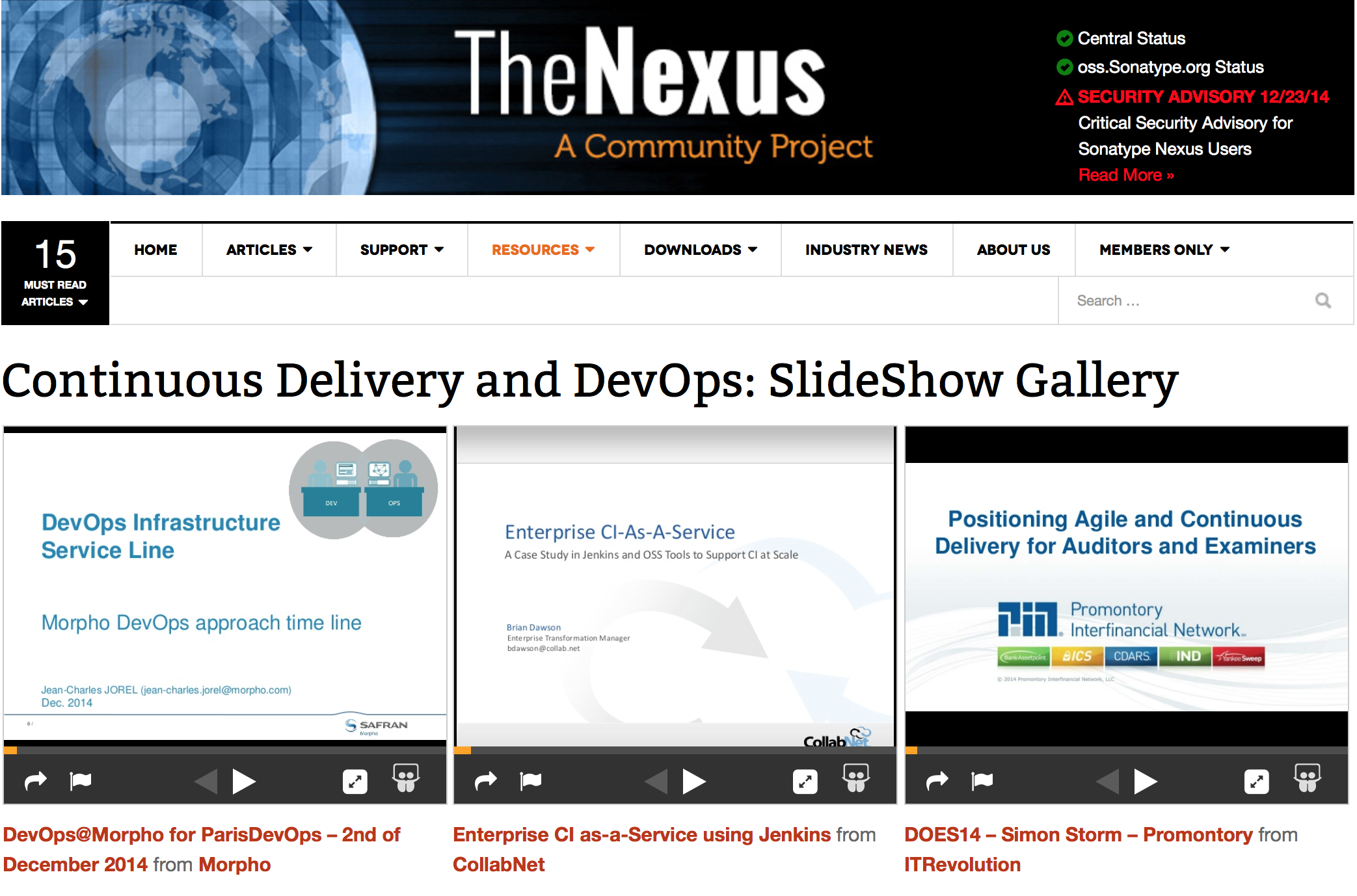 Nexus, Continuous Delivery, and DevOps