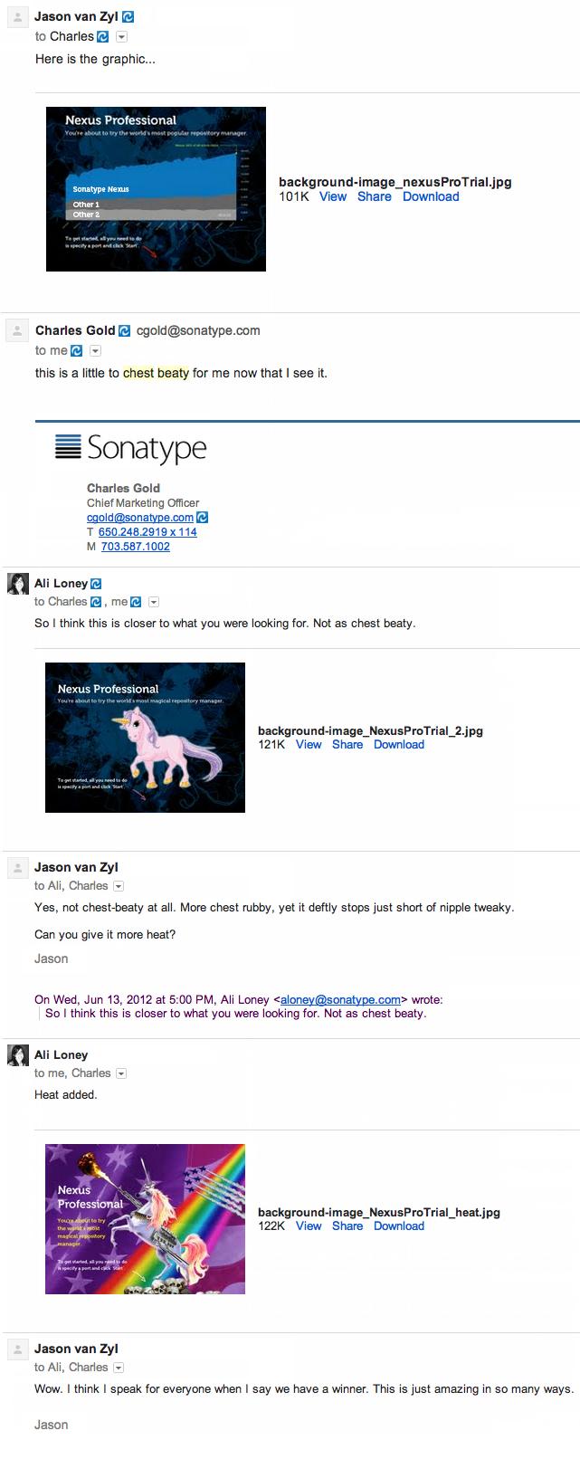 Nexus Splash Screen Email Thread