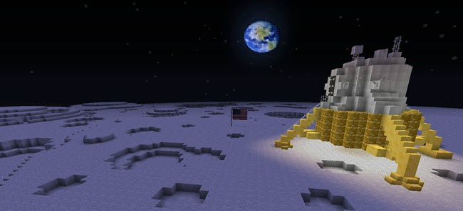 Minecraft - Moon Landing