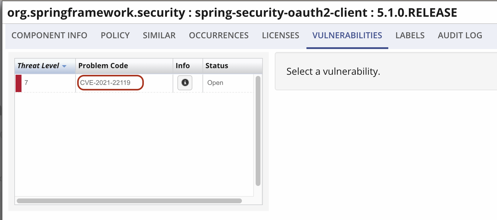 spring-security-oauth2-client version 5.1.0.RELEASE vulnerable to CVE-2021-22119