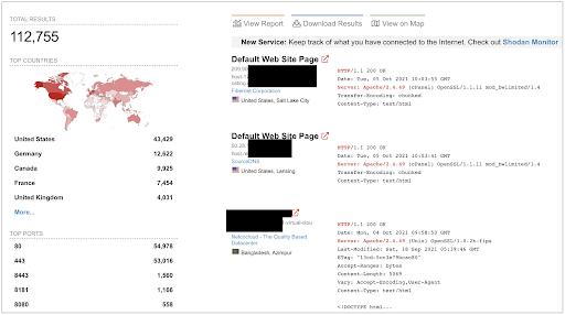 """Apache servers across the globe running the vunerable """"httpd"""" v2.4.49 version"""