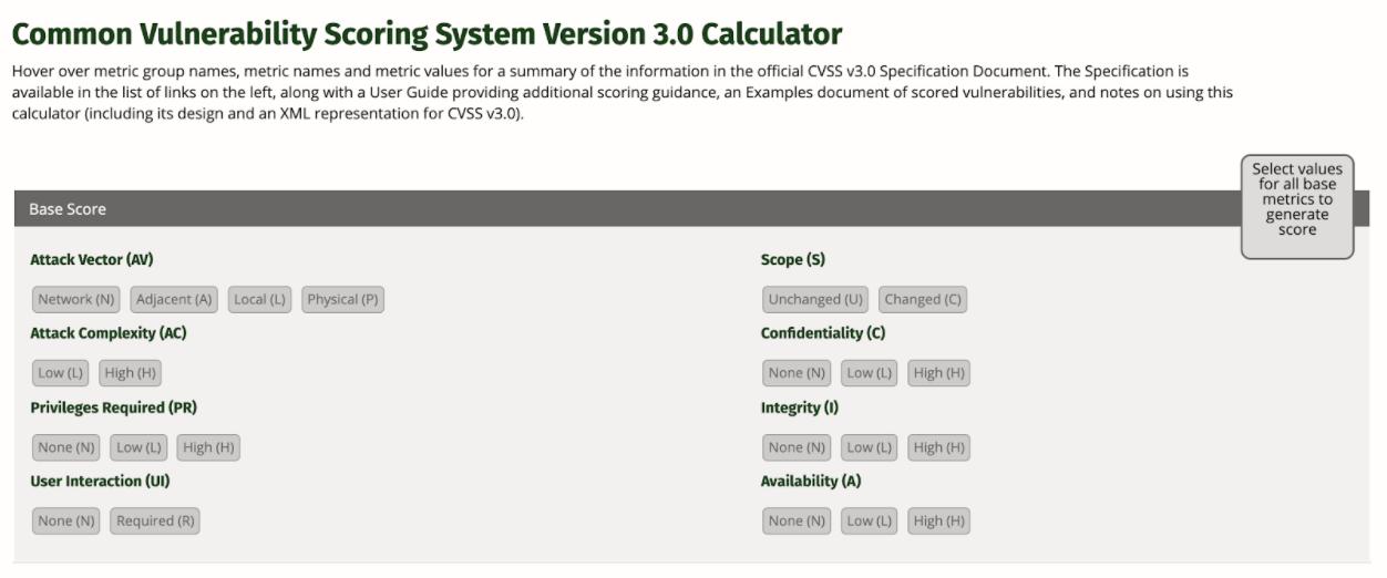 CVSS3-calculator