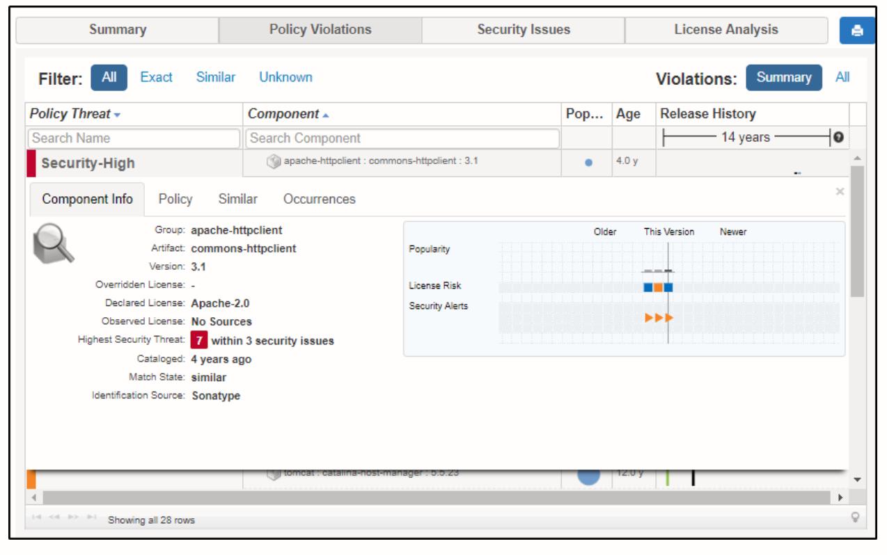 Nexus Vulnerability Scanner Policy Threat 2