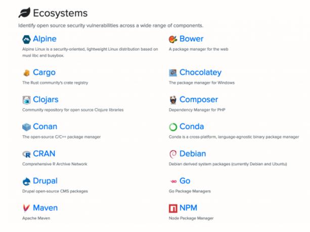 OSSIndex-Ecosystems