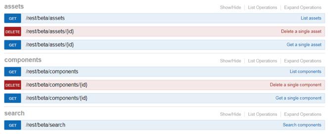 Nexus Repository: New Beta REST API for Content