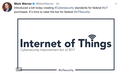 Internet of Things Cybersecurity Improvement Act of 2017