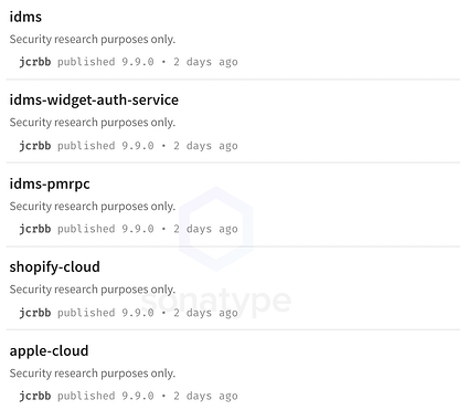 new npm copycat packages have emerged imitating Birsan's research