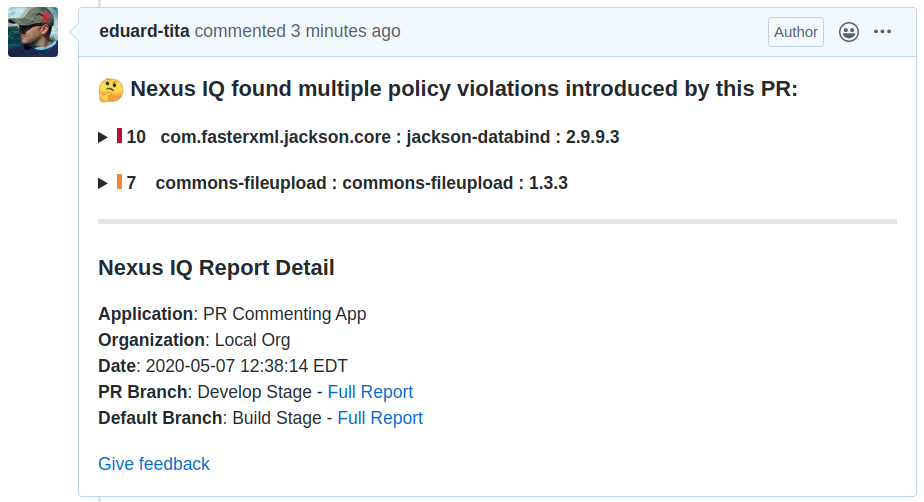 github pr summary comment-1