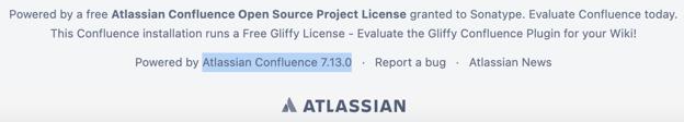 Image highlighting Atlassian Confluence versions