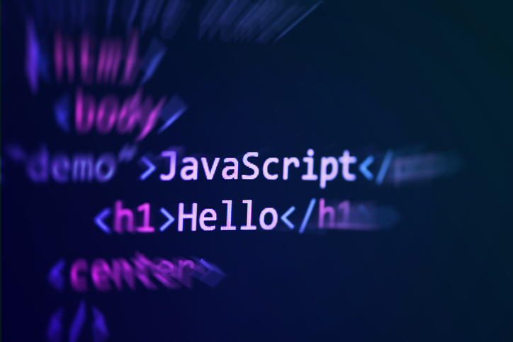 Image of the code saying Hello and Javascript