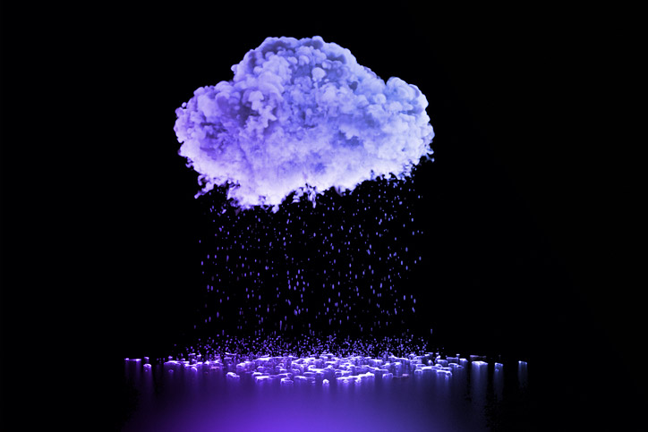Image of a raining cloud representing the Cloudflare critical vulnerability