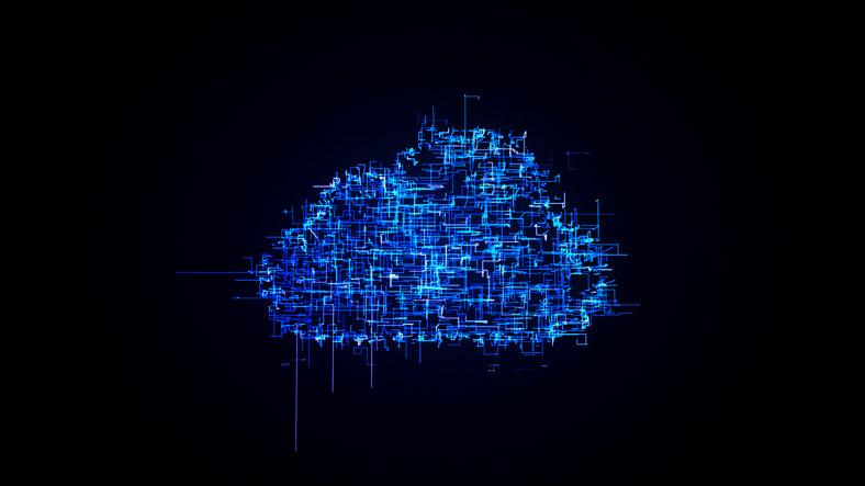 Digitally created cloud