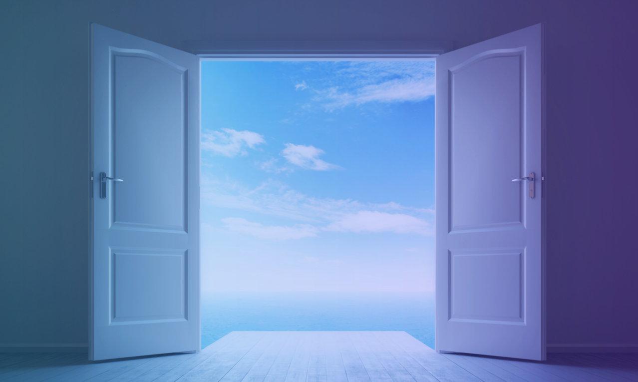 Open doors image