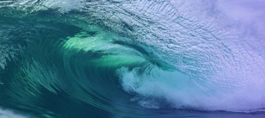 Stylized ocean wave